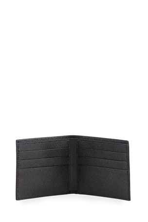 $295 Ralph Lauren Mens Solid Black Leather Card Case New