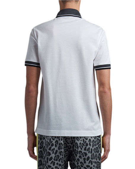 Dolce & Gabbana Men's Strike-Through Logo Polo Shirt