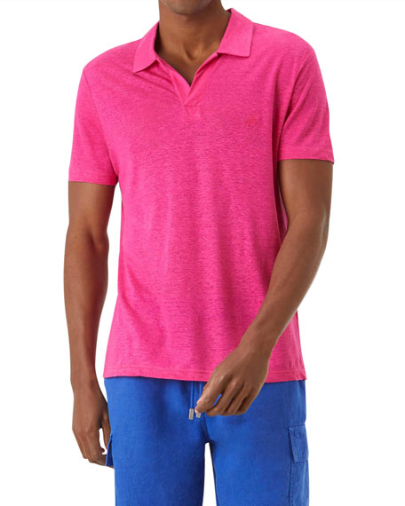 Vilebrequin Men's Pyramid Linen Polo Shirt