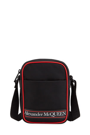 Alexander McQueen Men's Mini Logo Messenger Bag