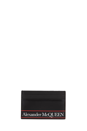 Alexander McQueen Men's Logo Leather Card Case