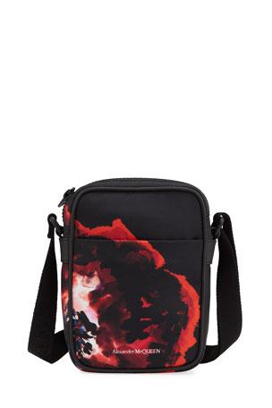 Alexander McQueen Men's Printed Nylon Mini-Messenger Bag