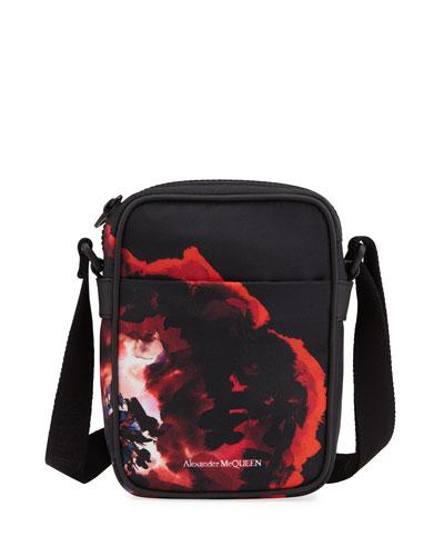 Men's Printed Nylon Mini-Messenger Bag