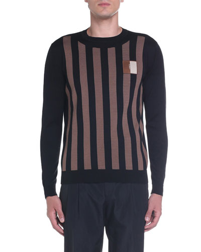 Men's Pequin Striped Crewneck Sweater