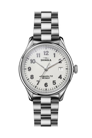 Shinola 38mm Vinton Bracelet Watch