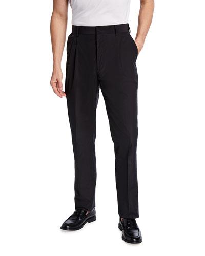 Men's Pleat-Front Pants