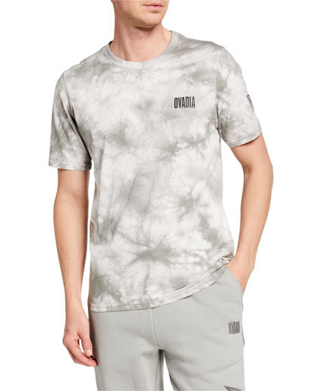 Image 1 of 2: Ovadia Men's NBA Tie-Dye Crewneck Tee