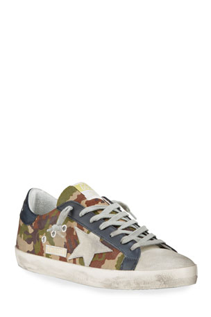 Golden Goose Men's Superstar Vintage Camo Low-Top Sneakers