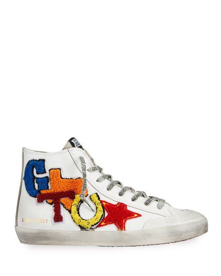 Image 3 of 4: Golden Goose Men's Francy Leather Applique Sneakers