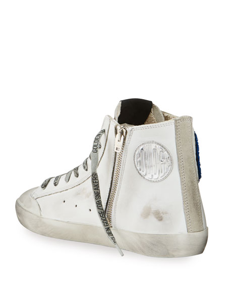 Image 4 of 4: Golden Goose Men's Francy Leather Applique Sneakers