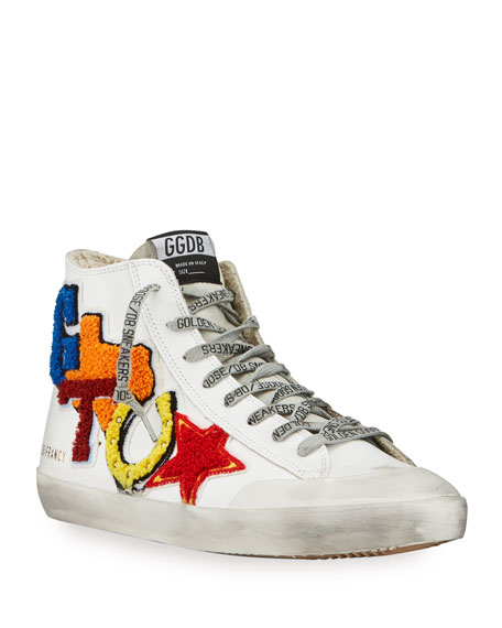 Image 1 of 4: Golden Goose Men's Francy Leather Applique Sneakers