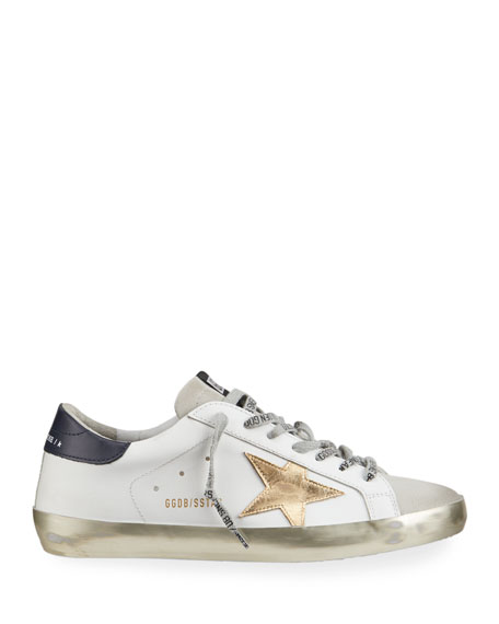 Image 3 of 4: Golden Goose Men's Superstar Vintage Leather Sneakers