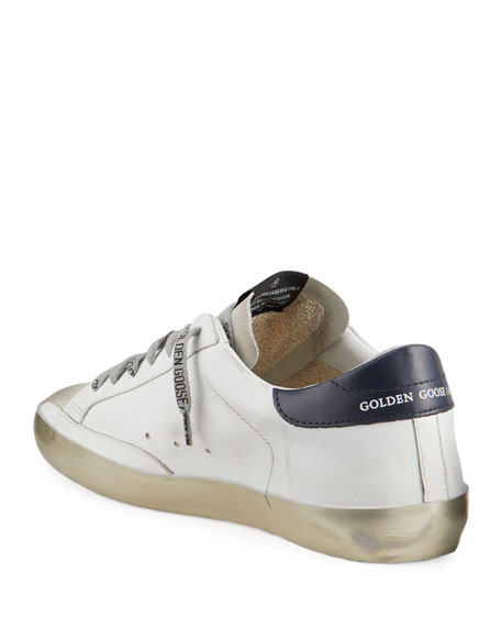 Image 4 of 4: Golden Goose Men's Superstar Vintage Leather Sneakers