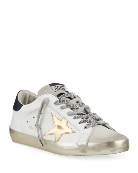 Image 1 of 4: Golden Goose Men's Superstar Vintage Leather Sneakers