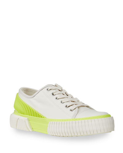 Men's Canvas/Rubber Sneaker with Back Strap