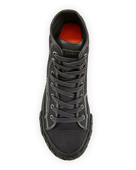 Image 2 of 4: Both Men's Pop Tyres High-Top Canvas Sneakers