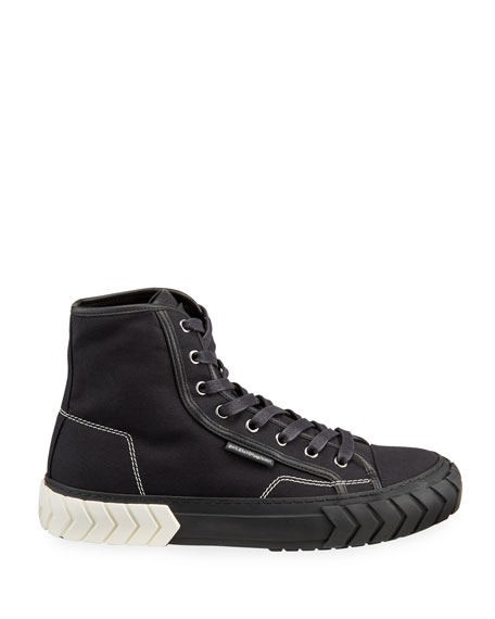 Image 3 of 4: Both Men's Pop Tyres High-Top Canvas Sneakers