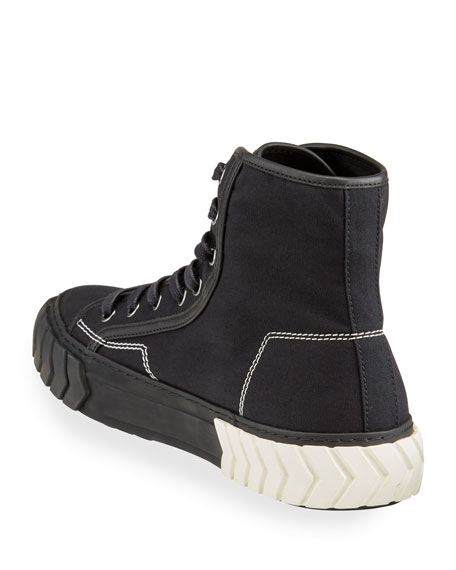 Image 4 of 4: Both Men's Pop Tyres High-Top Canvas Sneakers