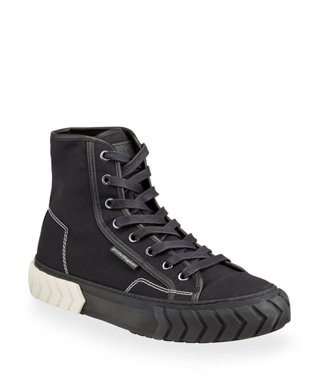 Image 1 of 4: Both Men's Pop Tyres High-Top Canvas Sneakers