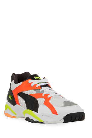 Puma Men's Performer Mesh/Leather Retro Sneakers