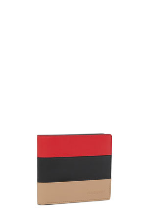 Burberry Men's Colorblock Leather Billfold Wallet