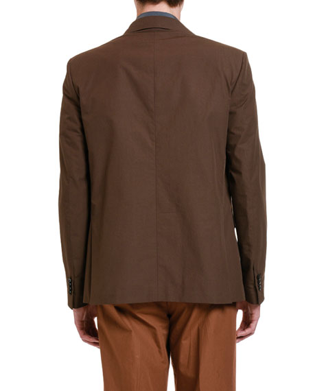 Image 2 of 3: Valentino Men's Solid Twill Two-Button Jacket