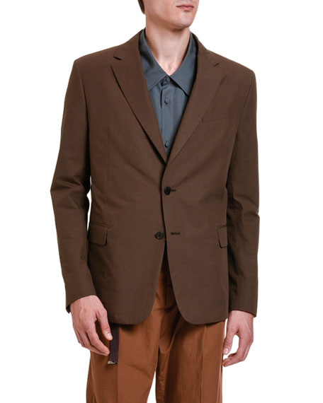 Image 1 of 3: Valentino Men's Solid Twill Two-Button Jacket