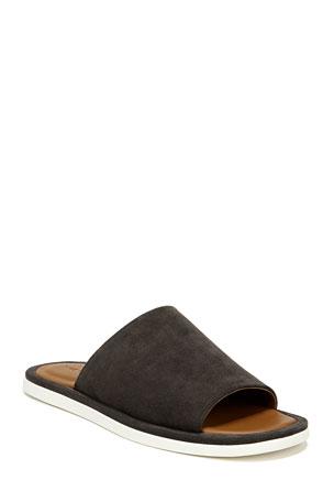 Vince Men's Devoe Suede Slide Sandals