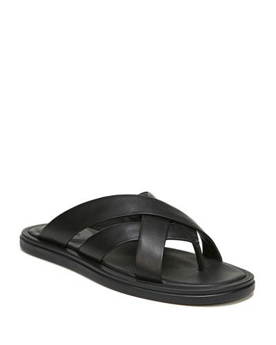 Men's Dunbar Strappy Leather Slide Sandals
