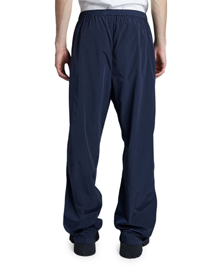 Balenciaga Men's Wide-Leg Track Pants