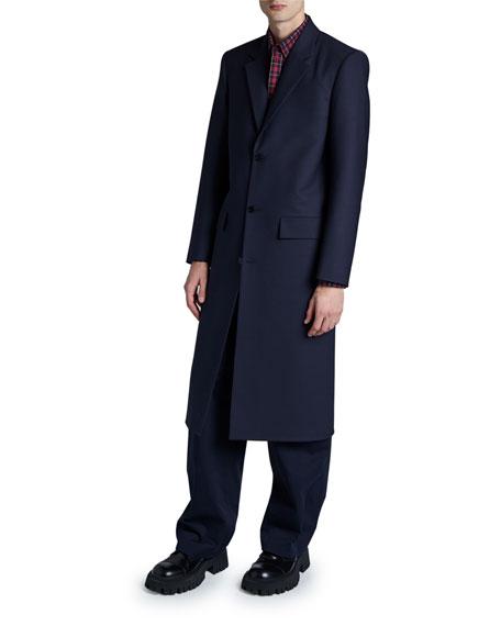 Balenciaga Men's Seamless Button-Front Coat