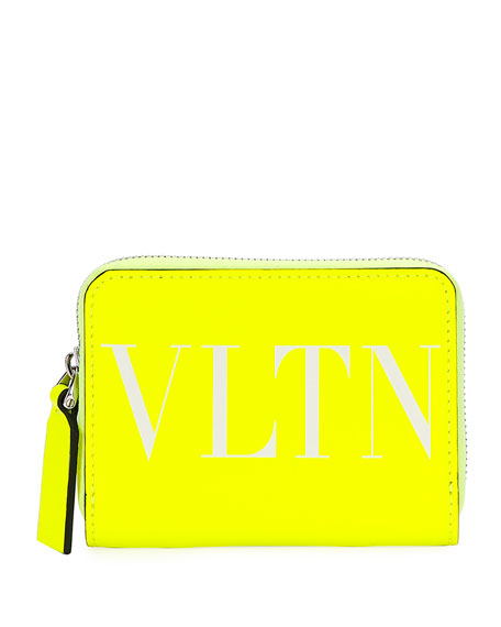 Valentino Men's VLTN Fluorescent Wallet/Crossbody Bag