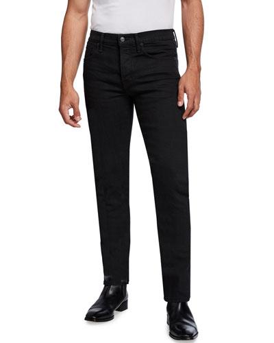 Men's Tapered Dark-Wash Selvedge Denim Jeans