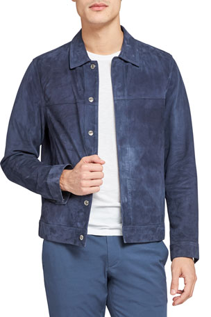 Theory Men's Jamie Reece Suede Jacket