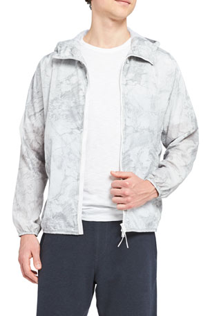 Theory Men's Joakim Marble Tech Hooded Jacket
