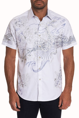 Robert Graham Men's Viper Graphic Sport Shirt
