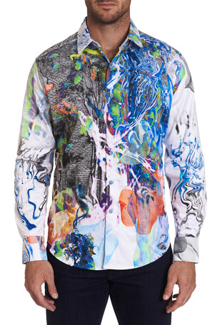 Robert Graham Men's Impaired Vision Psychedelic Sport Shirt