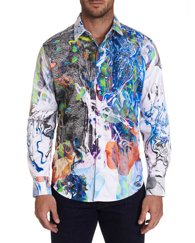Men's Impaired Vision Psychedelic Sport Shirt