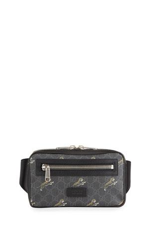 Gucci Men's GG Supreme Tiger-Print Belt Bag