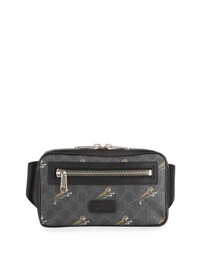 Men's GG Supreme Tiger-Print Belt Bag