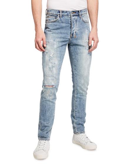 Ksubi Men's Chitch Rekonize Ruins Light-Wash Jeans