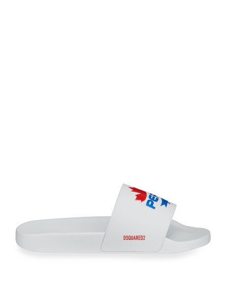 Image 3 of 4: Dsquared2 Men's x Pepsi Maple Leaf Slide Sandals