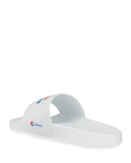 Image 4 of 4: Dsquared2 Men's x Pepsi Maple Leaf Slide Sandals
