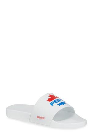 Dsquared2 Men's x Pepsi Maple Leaf Slide Sandals