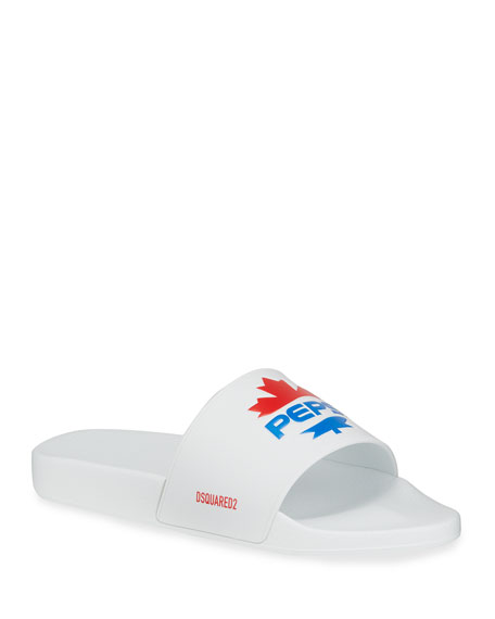Image 1 of 4: Dsquared2 Men's x Pepsi Maple Leaf Slide Sandals