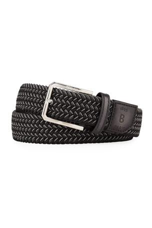 Berluti Men's Versatile Woven Stretch Belt
