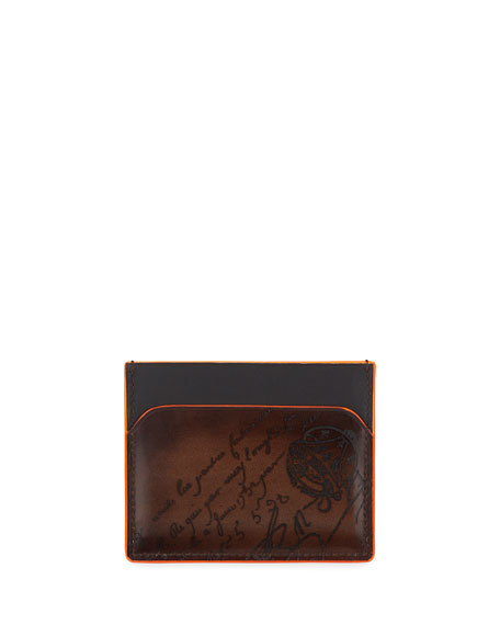 Image 2 of 2: Men's Bambou Neo Scritto Leather Card Case