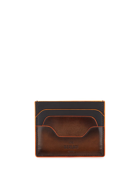 Image 1 of 2: Men's Bambou Neo Scritto Leather Card Case