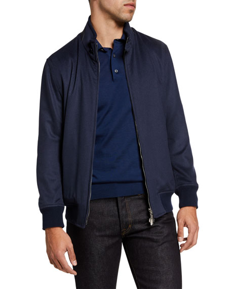 Stefano Ricci Men's Cashmere Full-Zip Track Jacket