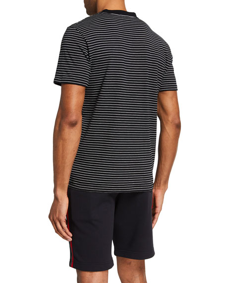 7 For All Mankind Men's Feeder Stripe Crewneck T-Shirt